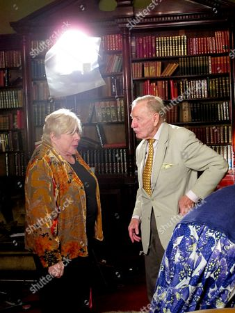 Fay Weldon and Leslie Phillips