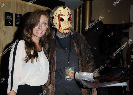 Katharine Isabelle and 'Jason' fan