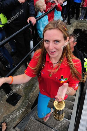 Editorial picture of Paralympic Torch Relay, Dorset, Britain - 27 Aug 2012