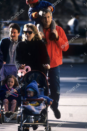 Caroline Kennedy with son John and husband Edwin Schlossberg with daughter Rose