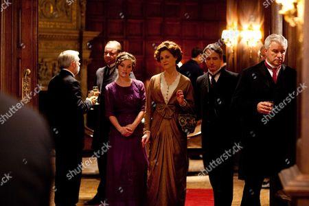 Perdita Weeks as Gerogiana Grex, Geraldine Somerville as Countess of Manton and Linus Roache as Earl of Manton
