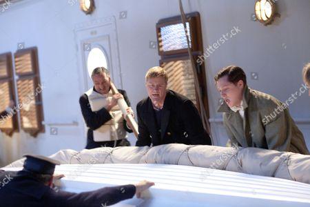 Steven Waddington as 2nd Officer Charles Lightoller and Noah Reid as Harry Widener