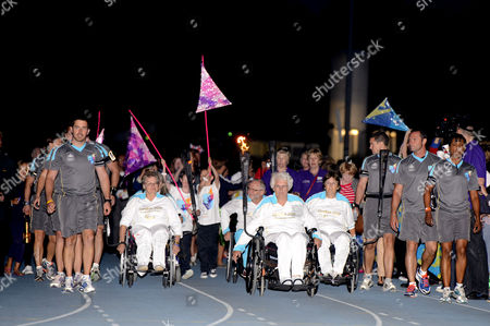 Editorial image of London 2012 Paralympics Torch Relay, Aylesbury, Britain - 28 Aug 2012