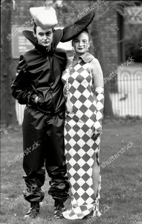 Editorial image of Students Fashion 1990 With Models Robert Lee And Jenny Wright.