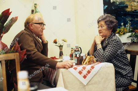 Stock Photo of Clifford Kershaw as Mr Thornton and Lynne Carol as Mrs Thornton