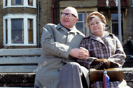 Stock Photo of Clifford Kershaw as Mr Thornton and Lynne Carol as Mrs Thornton