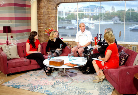 Rachael Latham, Claire Lomas and Simon Richardson with Eamonn Holmes and Ruth Langsford