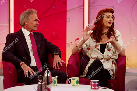 Stock Picture of Dr Hilary Jones and Charlotte Glen