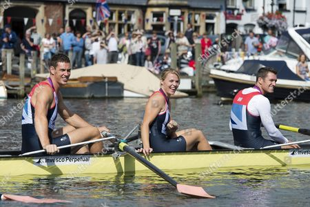 Editorial photo of Team GB Olympic Rowers Homecoming Parade, Henley on Thames, Oxfordshire, Britain - 25 Aug 2012