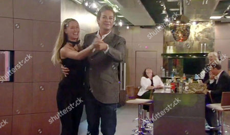 Danica Thrall and Julian Clary danicing