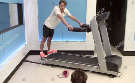 Prince Lorenzo Borghese in the gym
