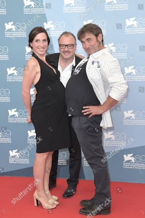 Anne Paulicevich, director Frederic Fonteyne and Sergi Lopez