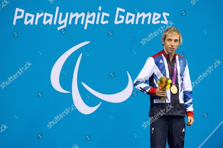 Jonathan Fox with his Gold Medal