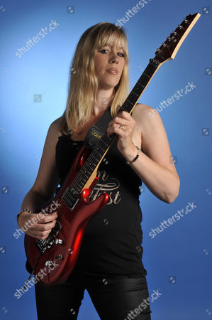 London United Kingdom - August 24: British Singer-songwriter Amanda Lehmann Famous For Being A Guitarist In Steve Hackett's Band As Well As Her Own Solo Career. During A Portrait Shoot For Classic Rock Magazine August 24