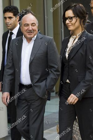 Stock Image of Boris Berezovsky and girlfriend Yelena Gorbunova
