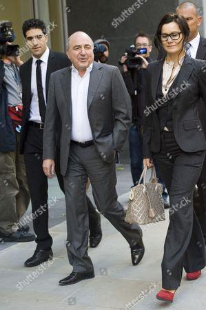 Boris Berezovsky and girlfriend Yelena Gorbunova