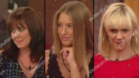 Coleen Nolan and Danica Thrall look on as Samantha Brick is evicted