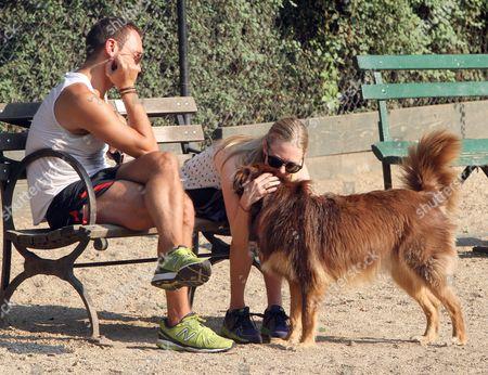 Desmond Harrington, Amanda Seyfried and Finn the dog