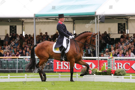 Oliver Townsend takes his dressage test on ODT Sonas Rovatio