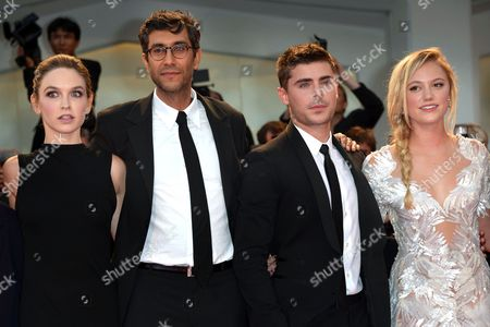 Hallie Elizabeth Newton, Ramin Bahrani, Zac Efron and Maika Monroe