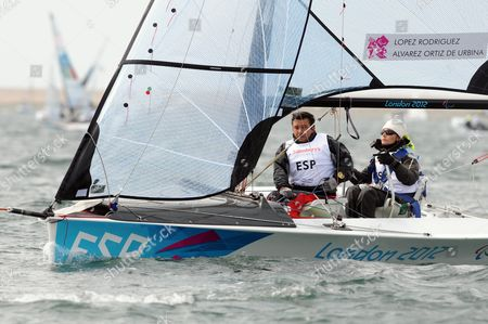Carolina Lopez Rodriguez and Fernando Alvarez Ortiz de Urbina of Spain - Skud 18 class race