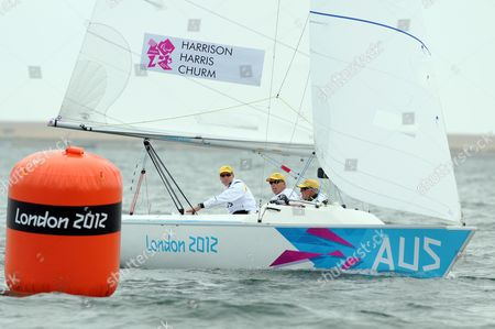 Colin Harrison, Jonathan Harris and Stephen Churm of Australia - Sonar class