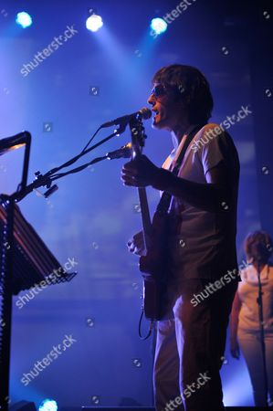 London United Kingdom - March 19: Jason Pierce Of English Space Rock Band Spiritualized Performing On Stage At The Hackney Empire March 19