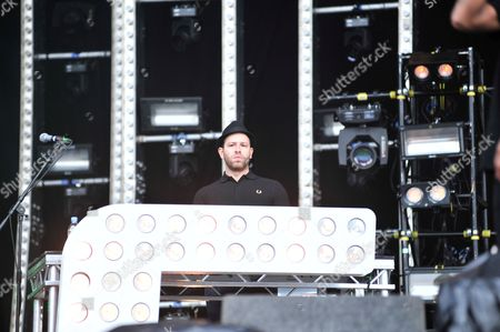 Donington United Kingdom - June 7: Saul Milton Of English Drum And Bass Group Chase And Status Performing Live On Stage At Download Festival On June 7
