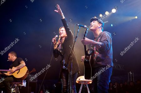 Stock Picture of Lzzy Hale Corey Taylor