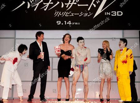 Milla Jovovich, Paul W.S. Anderson and Mika Nakashima