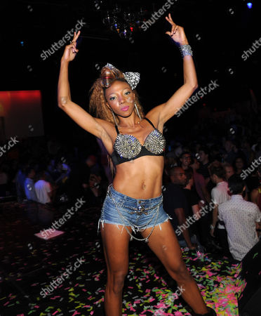 Editorial image of Nire Alldai performing at Krave nightclub, Las Vegas, America - 01 Sep 2012