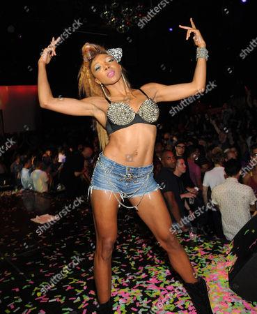 Editorial picture of Nire Alldai performing at Krave nightclub, Las Vegas, America - 01 Sep 2012