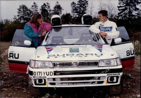 Rally Driving With Carol Thatcher And Derek Warwick The Racing Driver.