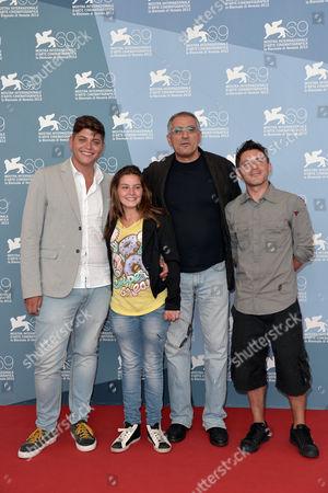 Alessio Gallo, Francesca Riso,the director Leonardo Di Costanzo, Carmine Paternoster