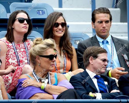 Pippa Middleton (c) and Spencer Vegosen  top (r)