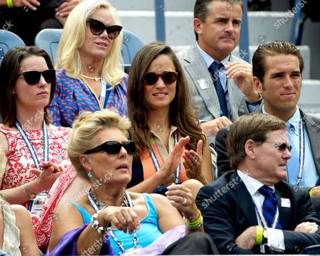 Pippa Middleton (c) and Spencer Vegosen centre right