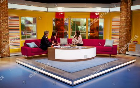 Aled Jones and Lorraine Kelly with Leanne Woodall