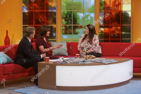 Stock Picture of Aled Jones and Lorraine Kelly with Leanne Woodall