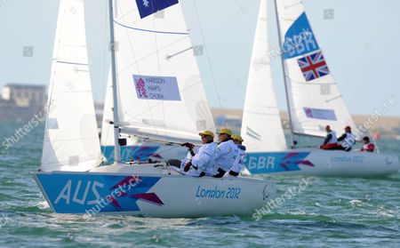 Stock Photo of Colin Harrison, Jonathan Harris and Stephen Churm of Australia - Sonar class