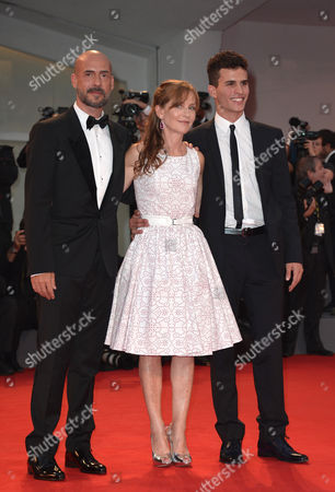 Stock Image of Gianmarco Tognazzi, Isabelle Huppert and Brenno Placido