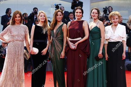 Stock Photo of Elsa Zylberstein, Victoria Guerra, Soraia Chaves, Marisa Paredes