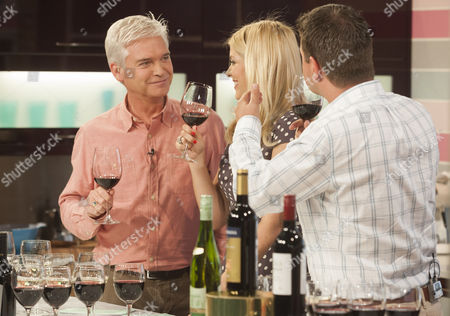 Phillip Schofield and Holly Willoughby with Guy Woodward
