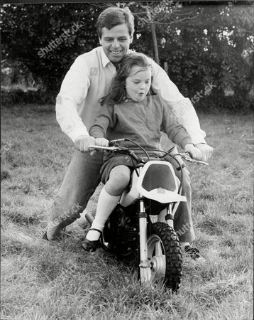 Derek Warwick And His Daughter Marie Pictured At Home.
