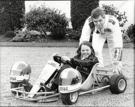Racing Driver Derek Warwick And His Daughter Marie.