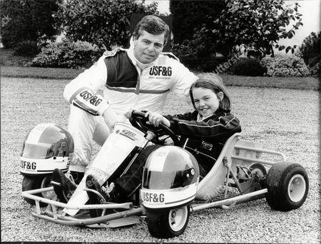 Derek Warwick Racing Driver And His Daughter Marie.