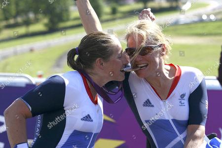 Rachel Morris and Karen Darke, Bronze Medal winners Paralaympic Hand Cycling, H1 -3