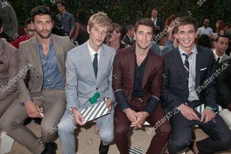 Noah Mills, Gabriel Mann, Josh Bowman and Nathan Adrian