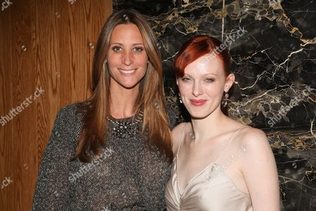 Stephanie Winston Wolkoff and Karen Elson