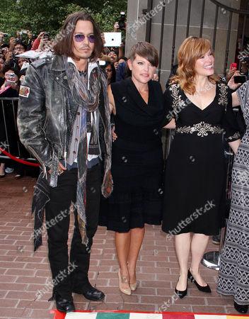 Natalie Mainesm, Lorri Davis, Johnny Depp