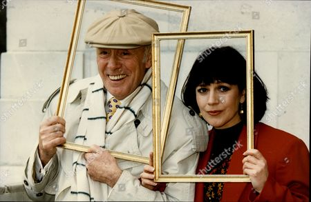 Actor Richard Wilson With Actress Jan Francis During Promotion For 'under The Hammer'.